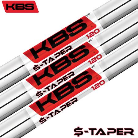 【ゴルフ】【シャフト】FST KBS S-Taper (Sテーパー) スチールシャフト 6本セット [5I,6I,7I,8I,9I,ウェッジ用]