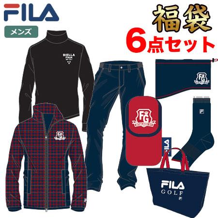 【数量限定】フィラ ゴルフ 新春福袋 2019 メンズ 6点セット 788-100 ネイビー FILA GOLF