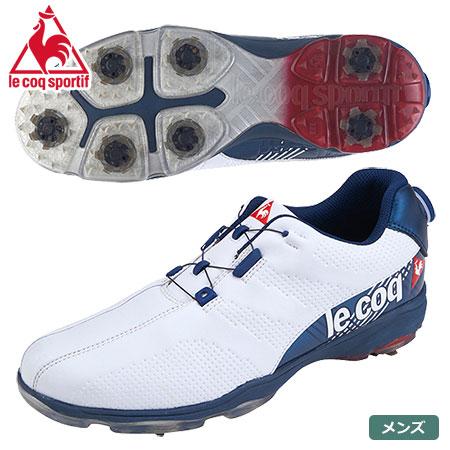 ルコックスポルティフ ゴルフ メンズ ゴルフシューズ QQ2NJA00 WHBL(ホワイト×ブルー) le coq sportif GOLF