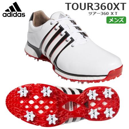 【ゴルフ】【スパイクシューズ】アディダス adidas メンズ ツアー360XT スパイクシューズ ホワイト/コアブラック/スカーレット(BD7124) 日本正規品