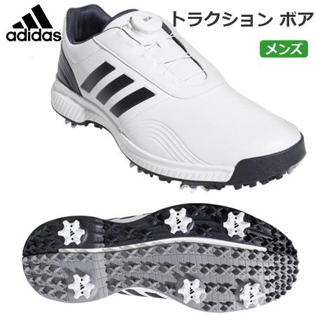 【ゴルフ】【スパイクシューズ】アディダス adidas メンズ トラクション ボア スパイクシューズ ホワイト/ブラックブルーメット/シルバーメット(BB7908) 日本正規品