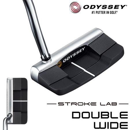 オデッセイ ストローク ラボ DOUBLE WIDE パター ODYSSEY STROKE LAB 2019年モデル [Over sizeグリップ装着] (日本正規品)