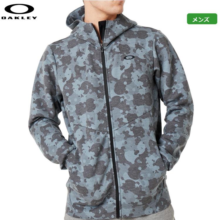 オークリー メンズ Enhance QD Fleece Jacket 9.7 フリースジャケット 472585-28B New Granite Heather トップス 日本正規品 2019秋冬