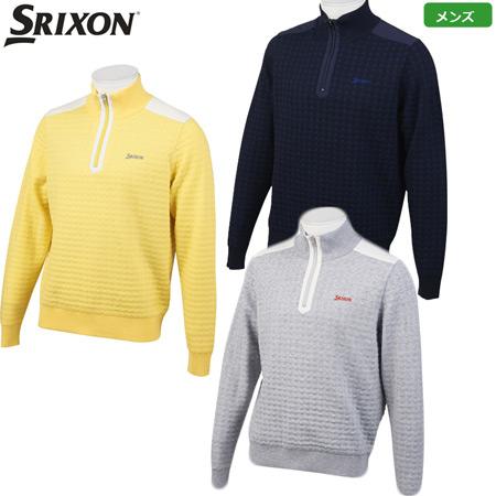 スリクソン メンズ ハーフジップ ハイブリッドセーター 2019秋冬 RGMOJL01 イエロー グレー ネイビー トップス 日本正規品
