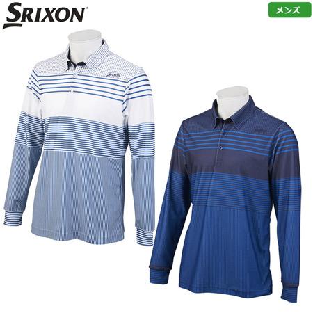 スリクソン メンズ ロングスリーブ シャツ 2019秋冬 RGMOJB09 ネイビー ブルー 日本正規品
