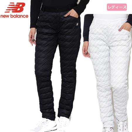 ニューバランス レディース SPORT パデットロングパンツ 2019秋冬 9231502 ブラック ホワイト パンツ 日本正規品