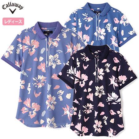 キャロウェイ ハーフジップポロシャツ レディース 241-0134803 Callaway 2020春夏
