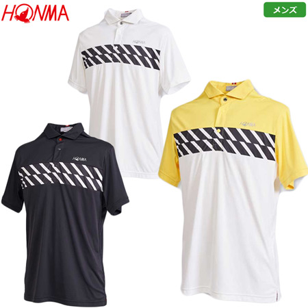 本間ゴルフ 胸元ストライプ Sスリーブシャツ メンズ 2020春夏 031-733125 シャツ 日本正規品