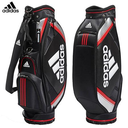 アディダス ベーシックキャディバッグ 9型 XA227 メンズ ブラック/レッド CL0600 adidas