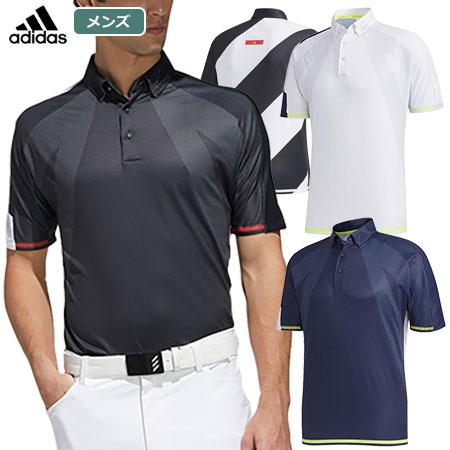 アディダス シングルパネル 半袖ボタンダウンシャツ GKI11 メンズ adidas 2020春夏