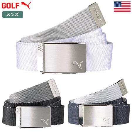 メーカー再生品 ゴルフウエア 実物 メンズ ベルト リバーシブル ゴルフ用 プーマ PUMA Golf Reversible USA直輸入品 054044 Webbing Belt Men's