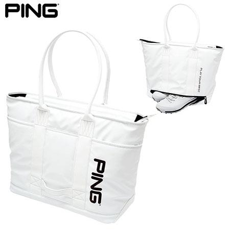 ゴルフ トートバッグ 激安 スポーツ 旅行 軽量感のあるソフトPU 土日祝も発送 ピンゴルフ GOLF BAG PING 推奨 TOTE ホワイト GB-P191