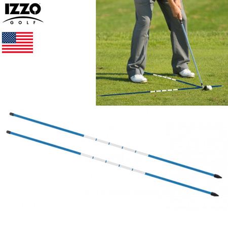ゴルフ 練習器具 土日祝も発送 IZZO イッゾ ALIGNMENT 約122cm 出色 USA直輸入品 2本組 0700215001288 STICKS アライメントスティック 毎日激安特売で 営業中です