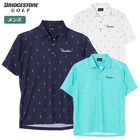 ゴルフウェア メンズ 新生活 半袖 未使用品 ポロシャツ 2021SS パラディーゾ 2021春夏モデル 半袖シャツ Paradiso TSM36A