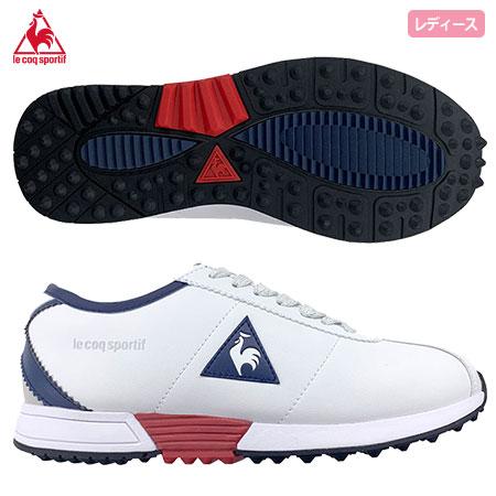 ゴルフシューズ レディース スパイクレス 2021SS 日 賜物 祝も発送 ルコックスポルティフ GOLF QQ3RJB04 coq sportif スパイクレスシューズ le 2021年モデル 日本未発売