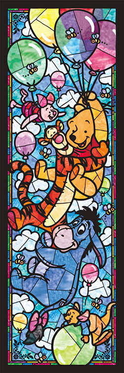 Disney Stained Glass Puzzle.Disney Ten Dsg456 722 Disney Winnie The Pooh S Stained Glass Book 456 Pieces Tenyo Jigsaw Puzzle