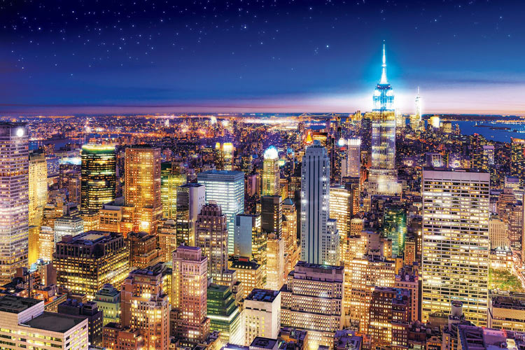 Night view - United States 1,000 pieces puzzle Puzzle gift birthday present  of EPO-10-809 scenery New York