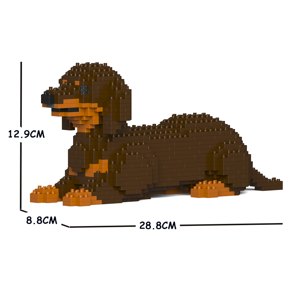 猫 バーゲンセール ネコ ねこ 犬 いぬ イヌ 動物 block animal JEKCA dog ST19DSD04-M02 ジェッカブロック ダックスフンド cat 04S-M02 Sculptor 直営限定アウトレット