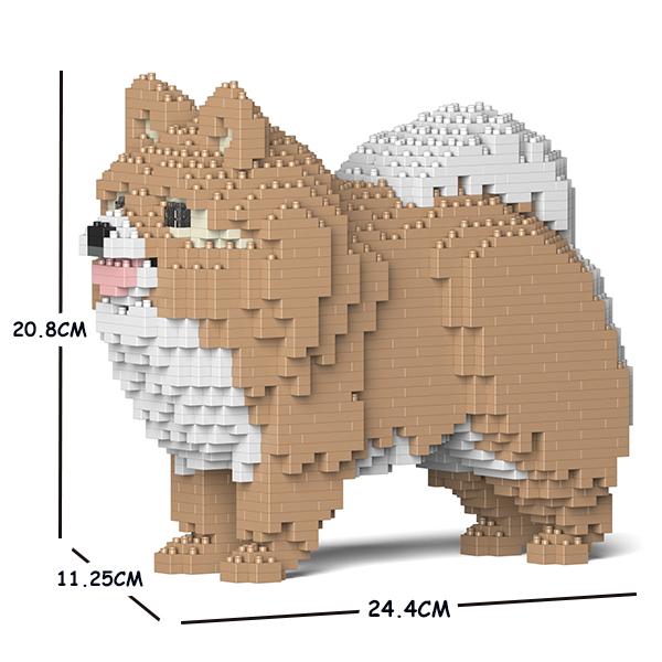 猫 ネコ ねこ 犬 いぬ イヌ 動物 block cat ジェッカブロック ポメラニアン ディスカウント 直送商品 JEKCA animal Sculptor 02S-M01 dog