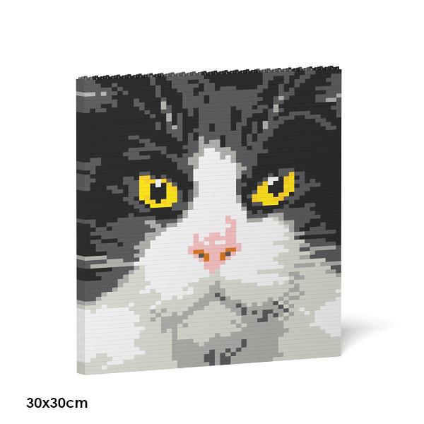 JEKCA ジェッカブロック パネル - タキシード猫 01S Sculptor