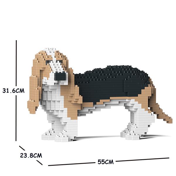 猫 ネコ ねこ 訳あり商品 犬 いぬ 動物 block animal dog cat パズル ジェッカブロック Craftsman 大人向けおもちゃ ハウンド CM19PT59-M02 JEKCA 送料無料 バセット ホビー 01C-M02 数量は多