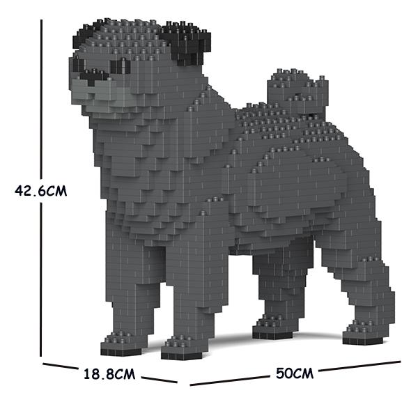 猫 ネコ ねこ 犬 いぬ 動物 block animal 通常便なら送料無料 dog cat Craftsman CM19PT09-M04 JEKCA 大人向けおもちゃ パズル 送料無料 ジェッカブロック 出色 ホビー パグ 01C-M04
