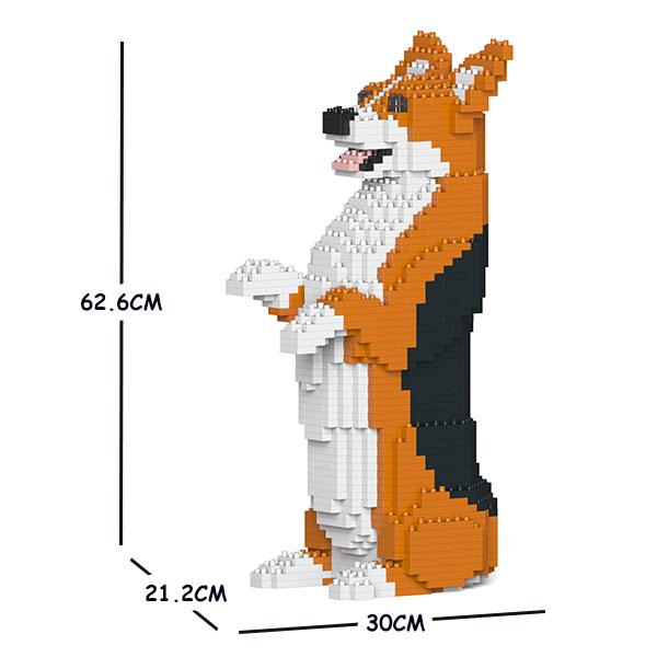 猫 ネコ ねこ 犬 いぬ 動物 block animal dog cat パズル CM19WC05-M02 ウェルシュ Craftsman 大人向けおもちゃ ジェッカブロック JEKCA コーギー ランキング総合1位 05C-M02 商舗 ホビー 送料無料