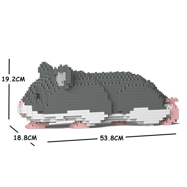 希少 猫 ネコ ねこ 犬 いぬ 動物 送料無料でお届けします block animal dog cat 03C-M02 ハムスター CM19HAM03-M02 JEKCA 大人向けおもちゃ パズル ジェッカブロック Craftsman ホビー