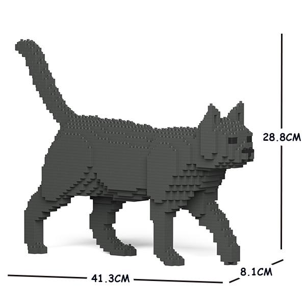 JEKCA ジェッカブロック 灰色猫 (濃い色) ねこ 07S-M03 Sculptor