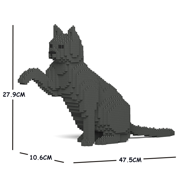 JEKCA ジェッカブロック 灰色猫 (濃い色) ねこ 08S-M03 Sculptor