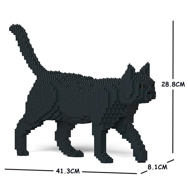 JEKCA ジェッカブロック 黒猫 ねこ 07S-M02 Sculptor