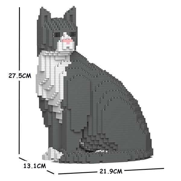 猫 ネコ ねこ 犬 いぬ イヌ 動物 block 01S animal ジェッカブロック cat グレータキシード猫 国内在庫 Sculptor JEKCA 新作入荷!! dog