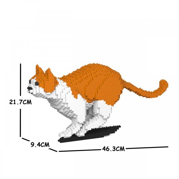 猫 授与 ネコ ねこ 犬 いぬ イヌ 動物 block cat 販売期間 限定のお得なタイムセール animal 茶白ねこ 23S-M01 dog ジェッカブロック JEKCA Sculptor