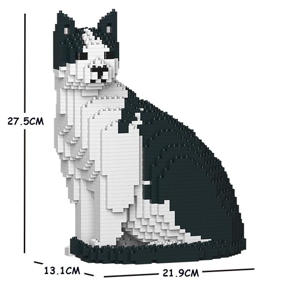 JEKCA ジェッカブロック 白黒猫 ねこ 10S-M02 Sculptor