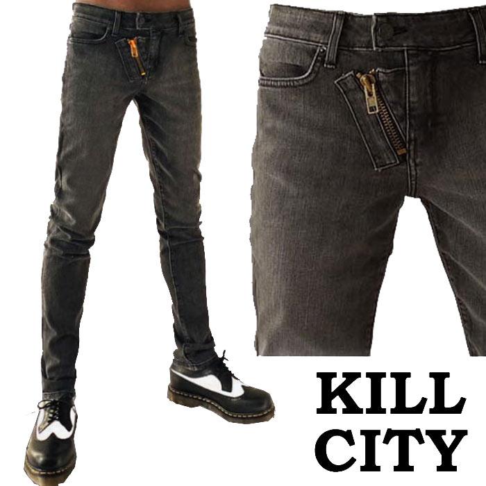 KILL CITY INDIGO DENIM CLASSIC SKINNY PREMIUM DARK WASH JUNKIE FIT JEAN PANTS