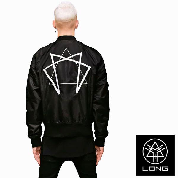 ma-1ジャケット ロングクロージング long clothing ENNEAGRAM グラフィック MA-1 ロック パンク ファッション ユニセックス BOY LONDON ボーイロンドン ビックシルエット ミリタリージャケット ストリート モード系 アウター メンズ レディース あす楽