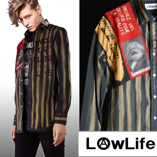 メンズ S-XL WSS0057 半袖シャツ BANKS 綿100% Urchin S/ 半袖 シャツ S Woven Shirt ネイビー バンクス