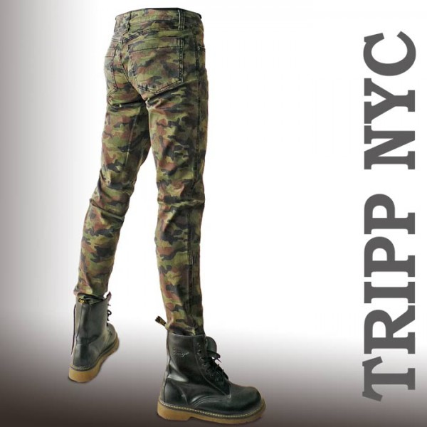 for sale online retailer best choice Tripp NYC CAMO Skinny Camo skinny pants unisex Magazine posted on Avril  favorite brand-trip New York skinny denim pattern skinny pants mens jeans  band ...