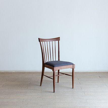 Forest フォレスト 02チェア(ウォルナット)ウォルナット無垢【1年保証】 リビングチェア キッチン カフェ ダイニングチェア dining chair 北欧 シンプル ナチュラル おしゃれ オススメ