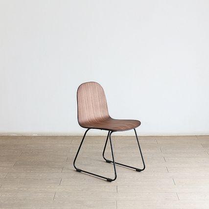 Forest フォレスト 06チェアウォルナット積層合板【1年保証】 リビングチェア キッチン カフェ ダイニングチェア dining chair アイアン スタイリッシュ 北欧 シンプル ナチュラル おしゃれ オススメ