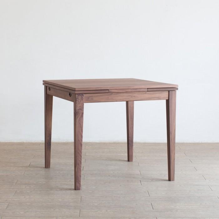 Forest フォレスト 33テーブル 800(ウォルナット)ウォルナット突板合板【1年保証】 リビングテーブル キッチン ダイニングテーブル dining table 収納棚 伸縮式 エクステンション 北欧 シンプル ナチュラル おしゃれ オススメ