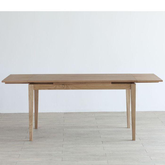 Forest フォレスト 33テーブル 1280(ホワイトオーク)ホワイトオーク突板合板【1年保証】 リビングテーブル キッチン ダイニングテーブル dining table 収納棚 伸縮式 エクステンション 北欧 シンプル ナチュラル おしゃれ オススメ