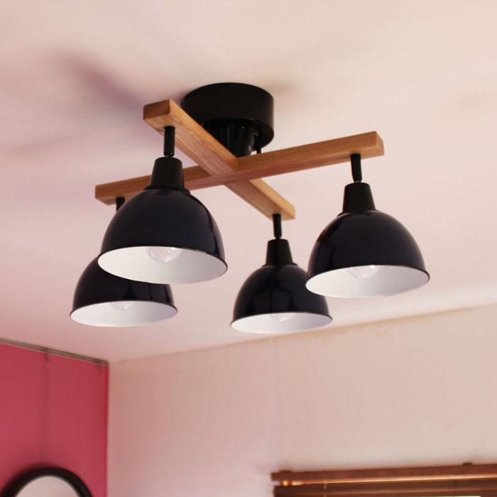 【1年保証】【照明】【ペンダントライト】【ライト】【4灯】GENDER WOOD ROD-CROSS-_4CEILING LAMP (電球あり)