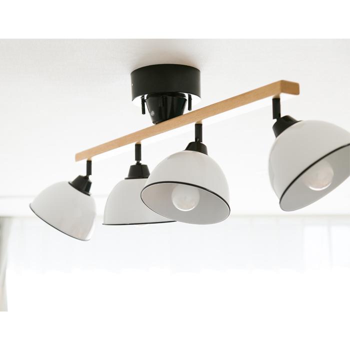 【1年保証】【照明】【シーリングライト】【ライト】【4灯】GENDER WOOD ROD 4CEILING LAMP (電球あり)