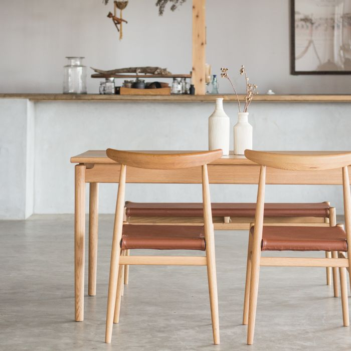 【1年保証】【テーブル】【ダイニングテーブル】【無垢材】 LYS ダイニングテーブル リス 135 オークナチュラル  関家具