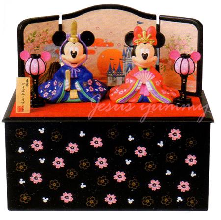 ディズニー ひな人形 台座に収納できる♪ 雛人形 ひな祭り お雛さま ミッキー ミニー 桃の節句 インテリアにも♪ 東京ディズニーリゾート 【DISNEY】