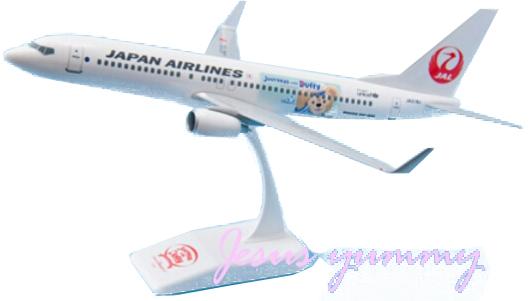 JALハッピージャーニーエクスプレス ダッフィー 1/130スケール ディズニー JAL フィギュア 模型 モデルプレーン  ディズニーリゾートお土産袋き 【DISNEY】