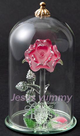 ローズドーム ピンク Lサイズ 美女と野獣 バラ ガラス シンデレラ城 ディズニー ウエディング リゾートお土産袋付き♪【DISNEY】