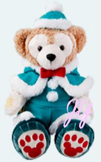 ダッフィー ぬいぐるみコスチュームセット クリスマス 2014 ディズニーシー限定 お土産袋付き!【DISNEY】