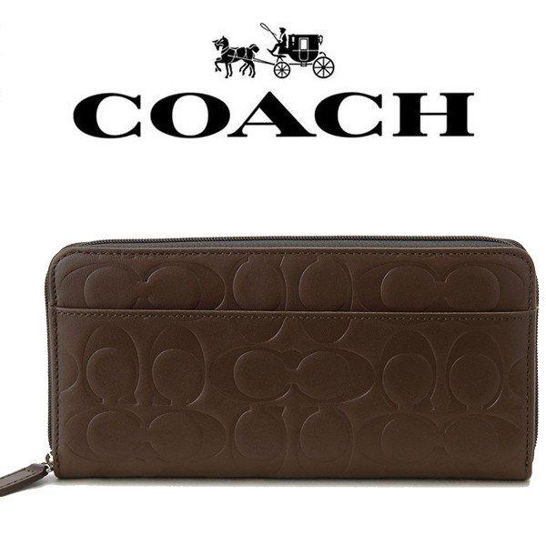 【送料無料】 F74529 コーチ COACH 財布 長財布 シグネチャー エンボスド ウォレット メンズ レディース アウトレット